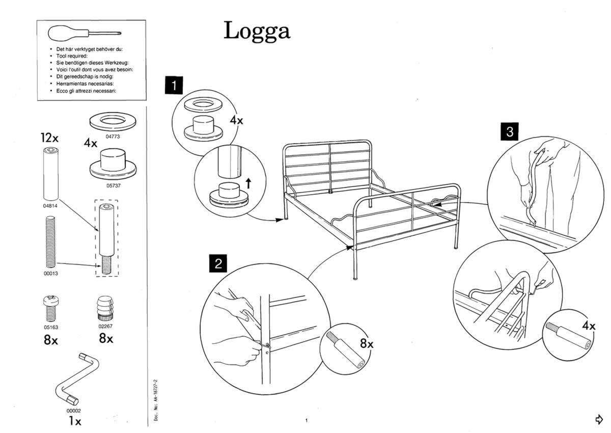 Ikea dokka bed manual for Canape user manual pdf